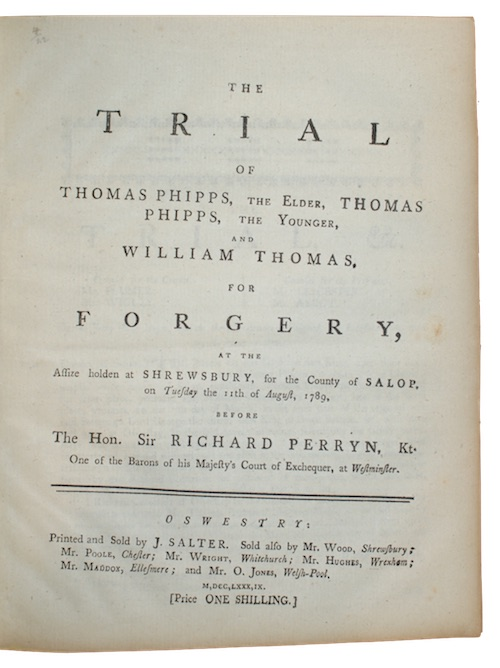 "Photo of ""The trial of thomas phipps, ..."""
