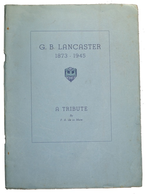 "Photo of ""G. B. Lancaster 1873-1945: a ..."""