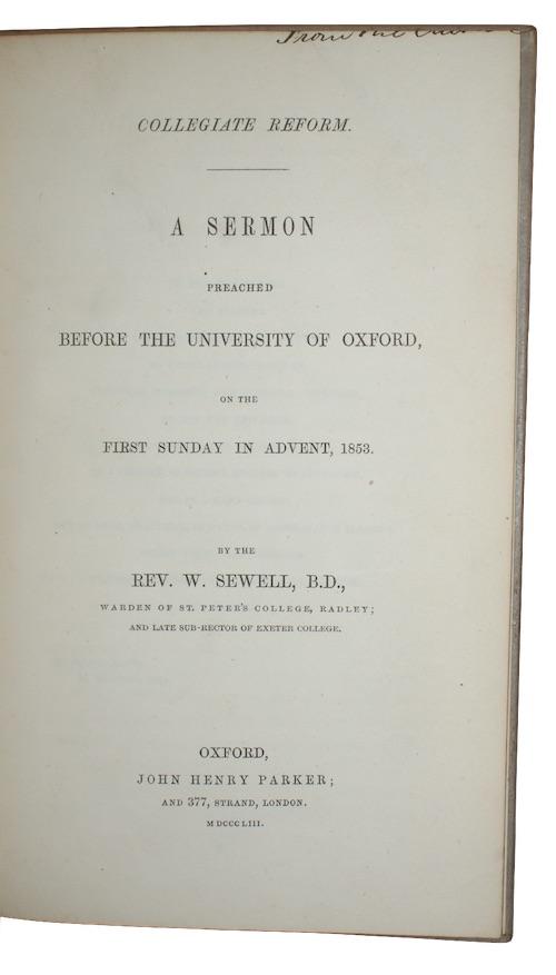 """Photo of """"Collegiate reform. A sermon preached ..."""""""
