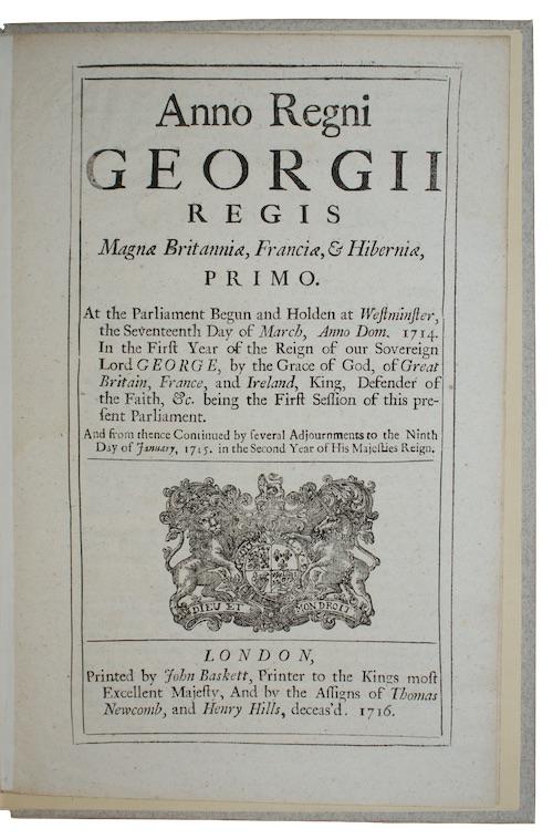 [ACTS - GEORGE II] - Anno Regni georgii II. Regis Magnae Britanniae, Franciae, & Hiberniae...