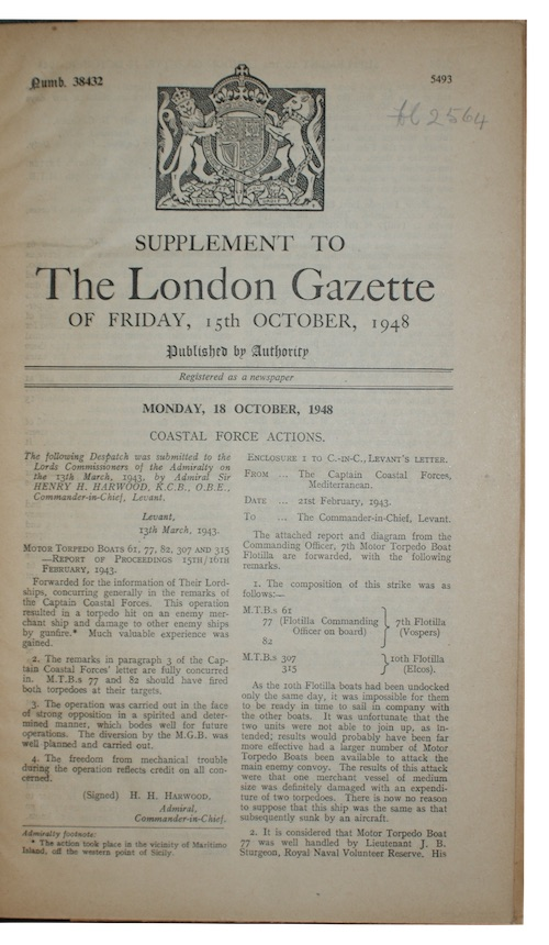 "Photo of ""Supplement to The London Gazette ..."""