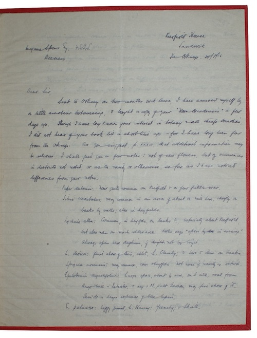 "Photo of ""[Manuscript letter regarding the botany ..."""