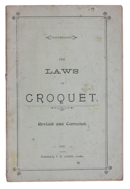 "Photo of ""The laws of croquet"""