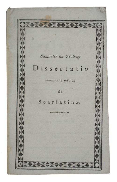 "Photo of ""Dissertatio inauguralis medica Scarlatina.."""