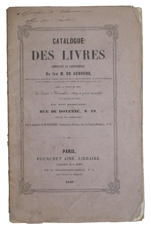 """Photo of """"Catalogue des livres composant la ..."""""""