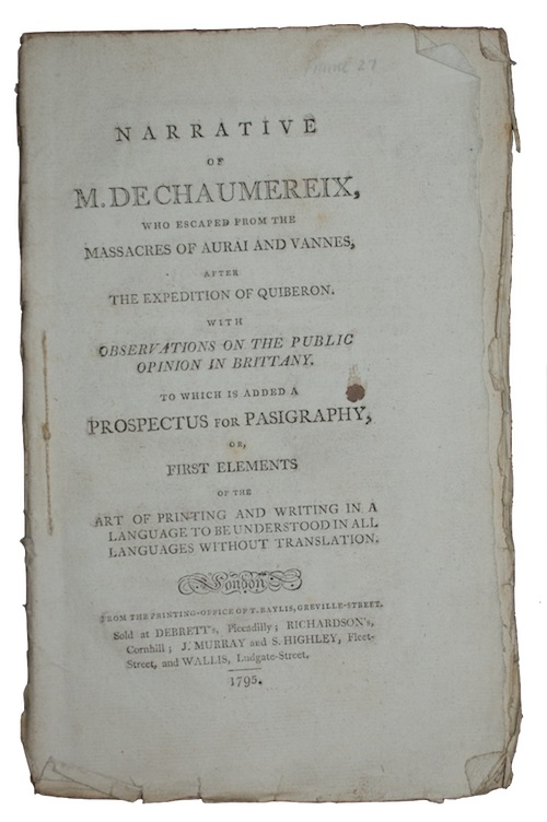"Photo of ""Narrative of m. de chaumereix, ..."""