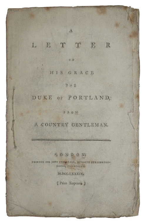 """Photo of """"A letter to his grace ..."""""""