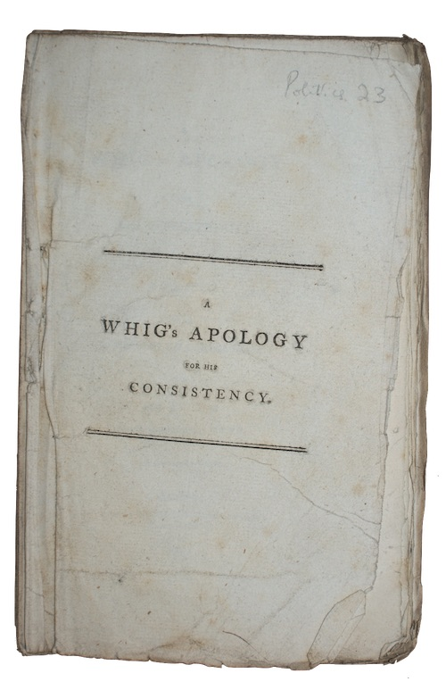 "Photo of ""A whig's apology for his ..."""