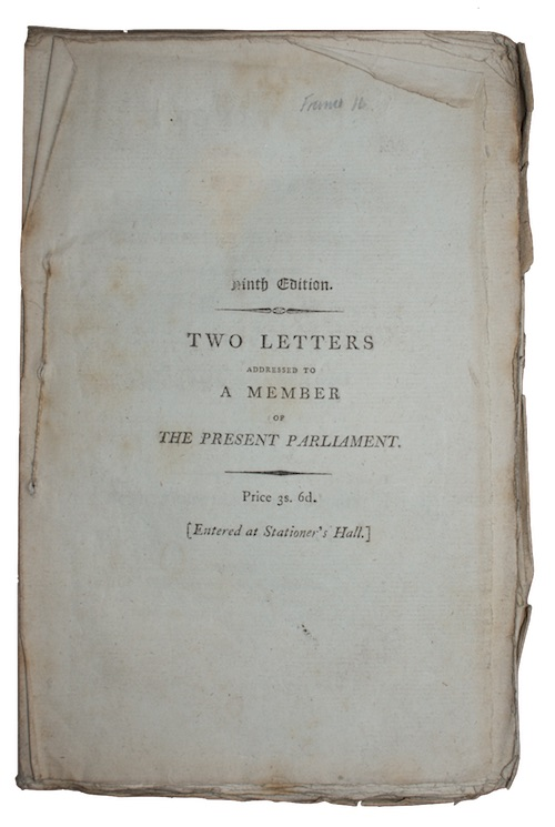 """Photo of """"Two letters addressed to a ..."""""""