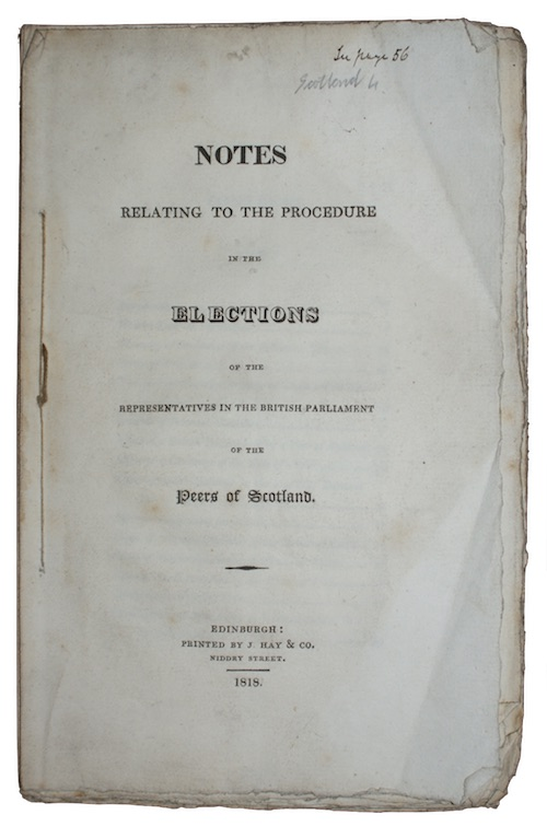 "Photo of ""Notes relating to the procedure ..."""