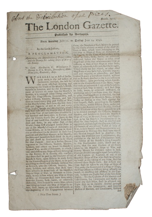 [LONDON GAZETTE] - The London Gazette. Published by Authority. From Saturday June 21. to T...