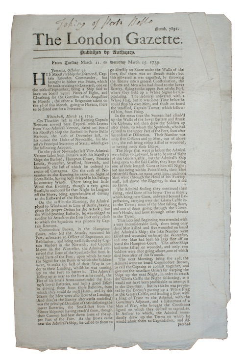 [LONDON GAZETTE] - The London Gazette. Published by Authority. From Tuesday March 11. to S...