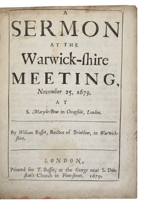 "Photo of ""A sermon at the Warwick-shire ..."""