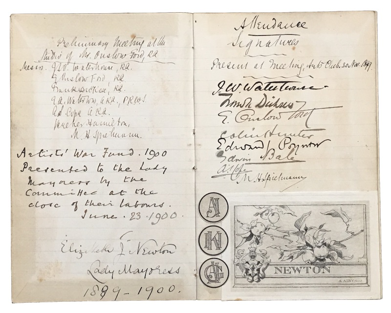 "Photo of ""[Manuscript committee attendance register for ..."""
