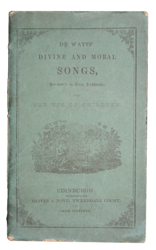 """Photo of """"Divine and moral songs, Attempted ..."""""""