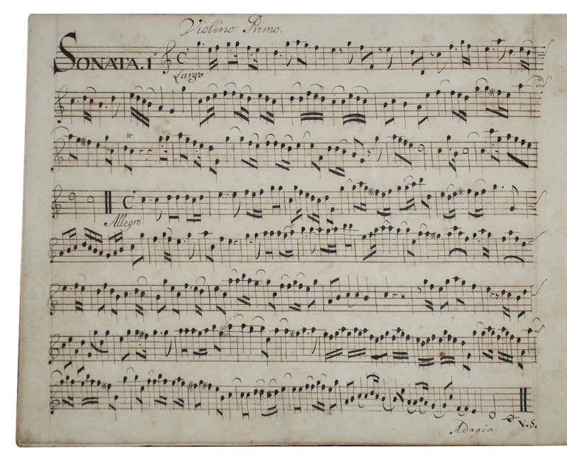 "Photo of ""[A manuscript of musical notation]"""