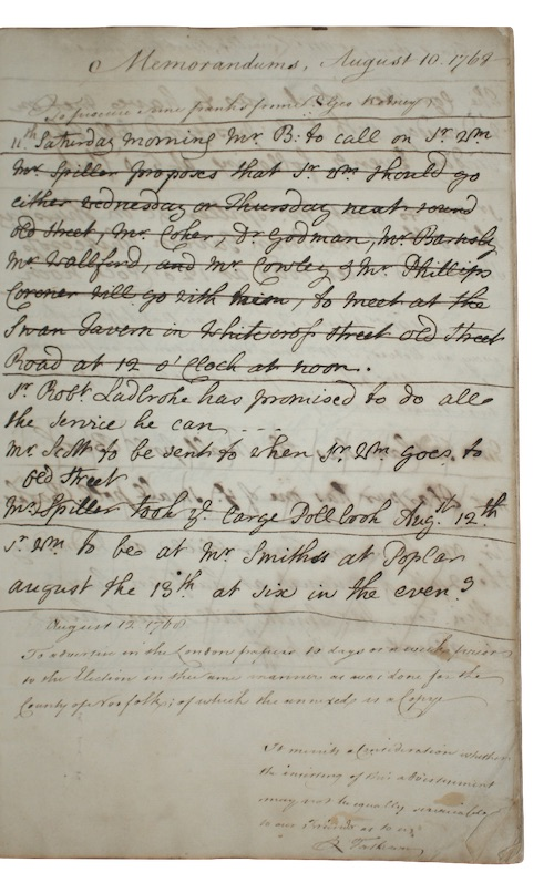 "Photo of ""[A manuscript memorandum book relating ..."""