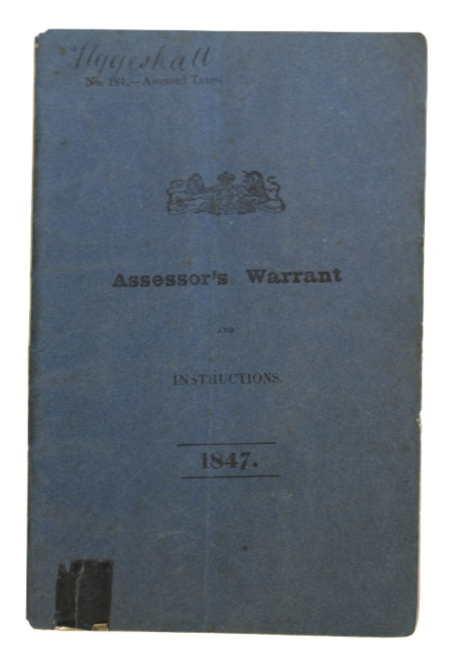 "Photo of ""Assessor's Warrant and instructions"""