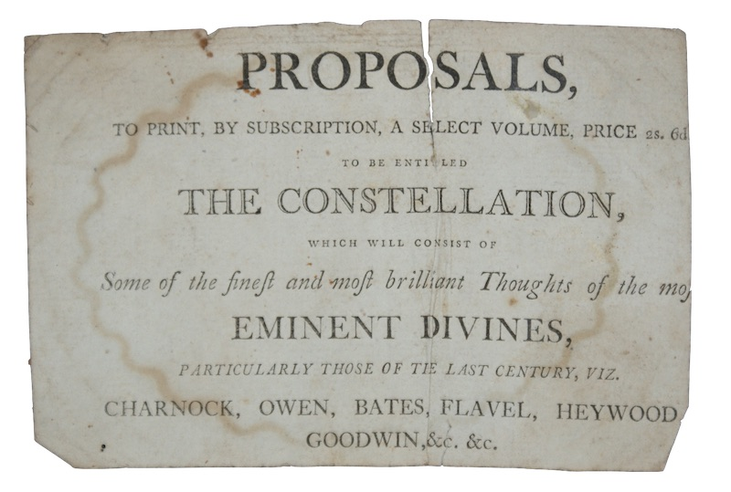 "Photo of ""Proposals, to print by subscription, ..."""