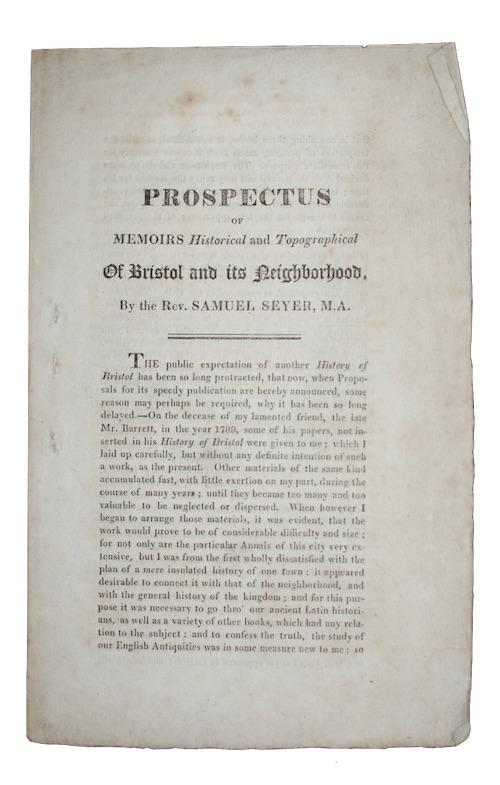 "Photo of ""[Caption title:] Prospectus of memoirs ..."""
