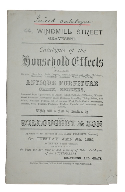 """Photo of """"Catalogue of the Household Effects...Which ..."""""""