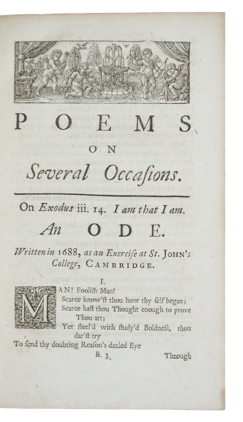 """Photo of """"Poems on Several Occasions"""""""