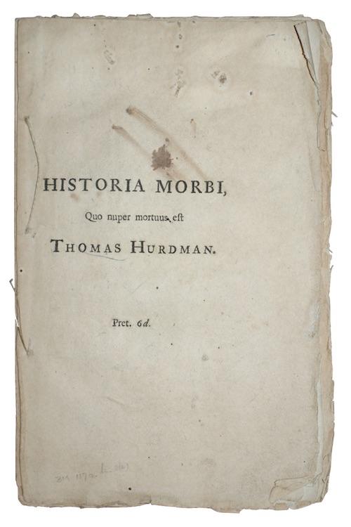 """Photo of """"Historia morbi Quo nuper mortuus ..."""""""