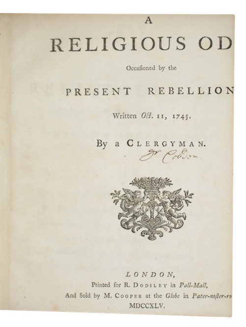 "Photo of ""A religious ode Occasioned by ..."""
