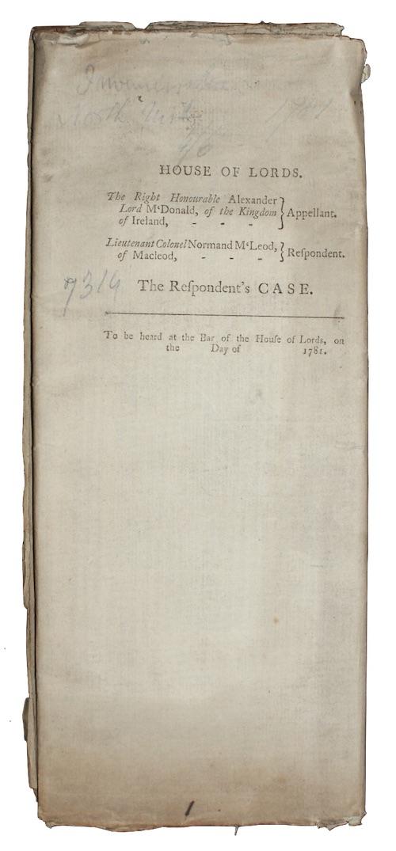 "Photo of ""Alexander Lord Macdonald, - Appellant. ..."""