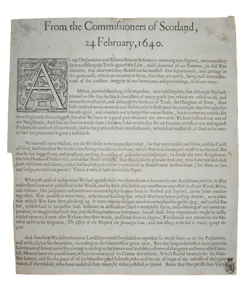 "Photo of ""From the Commissioners of Scotland, ..."""
