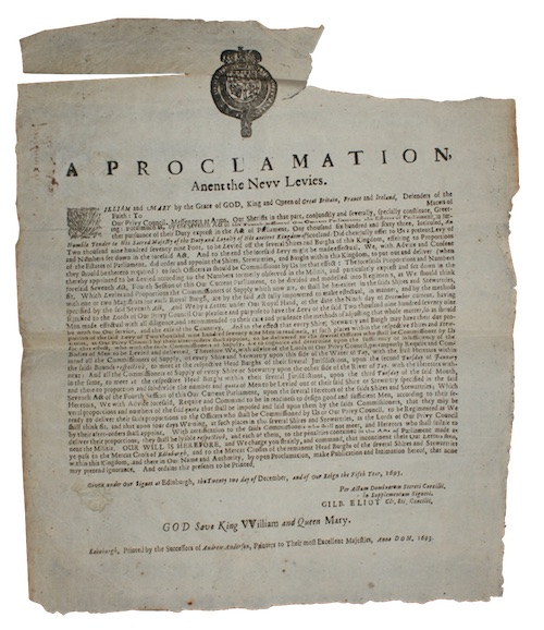 "Photo of ""A proclamation, Anent the New ..."""