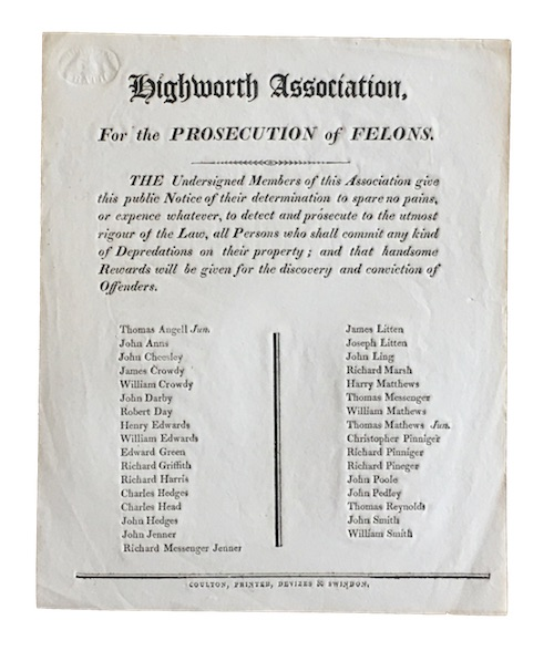 "Photo of ""Highworth Association, For the prosecution ..."""