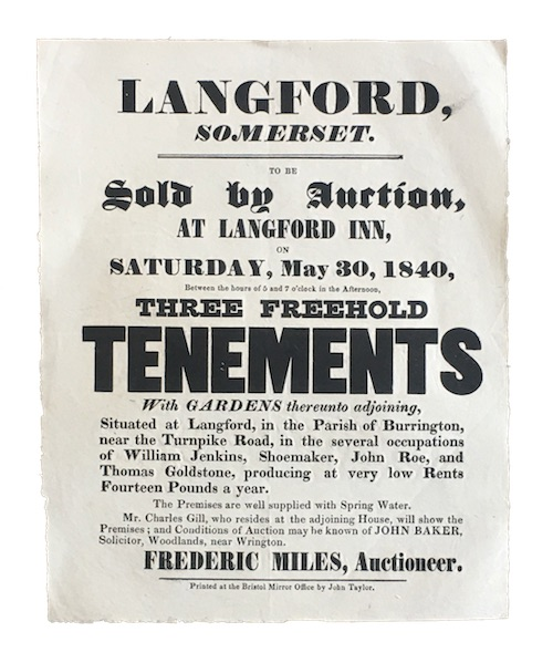 "Photo of ""Langford, somerset. To be Sold ..."""