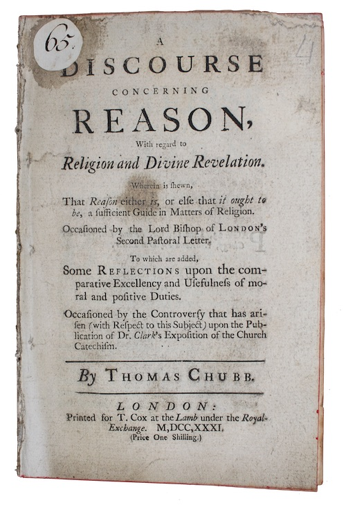 "Photo of ""A discourse concerning reason, With ..."""