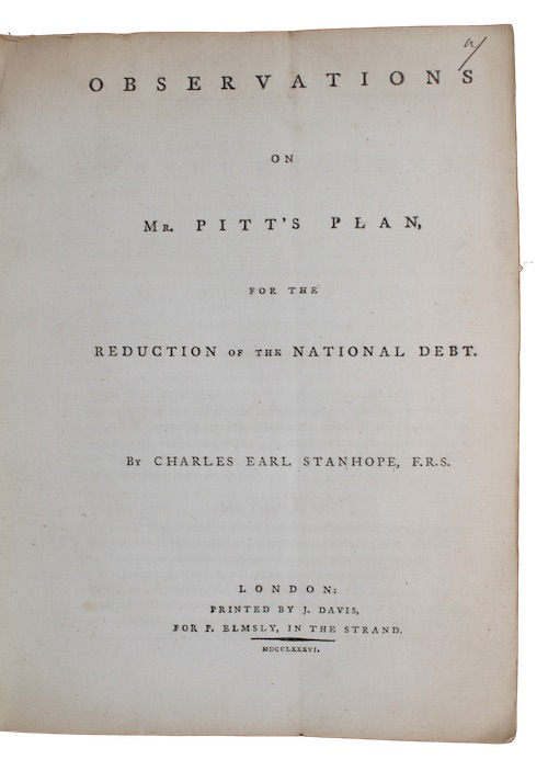 "Photo of ""Observation on Mr. Pitt's plan, ..."""