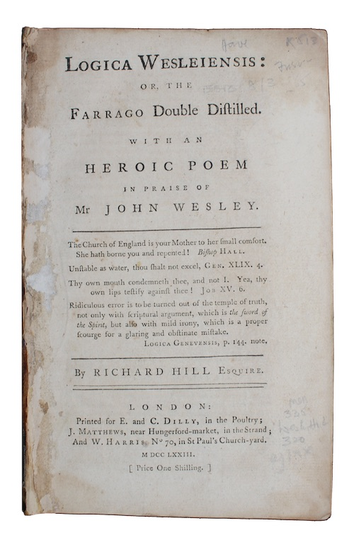 "Photo of ""Logica Wesleiensis: or, the Farrago ..."""