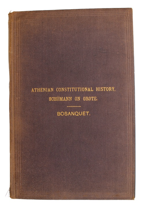 "Photo of ""Athenian constitutional history, as represented ..."""