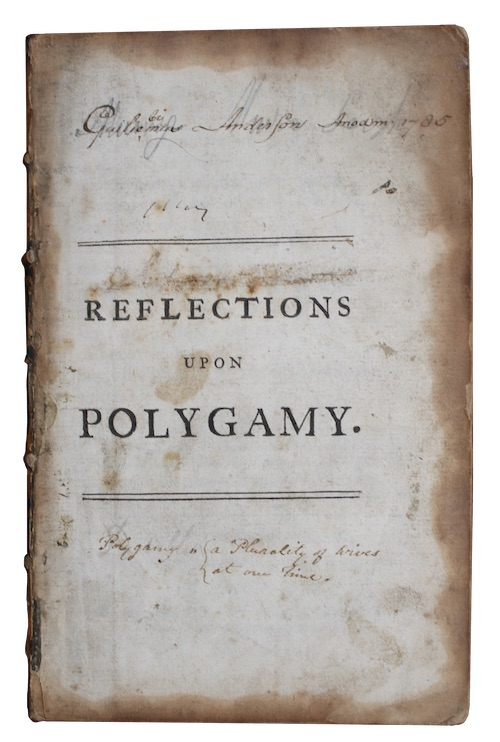 "Photo of ""Reflections upon polygamy, and the ..."""