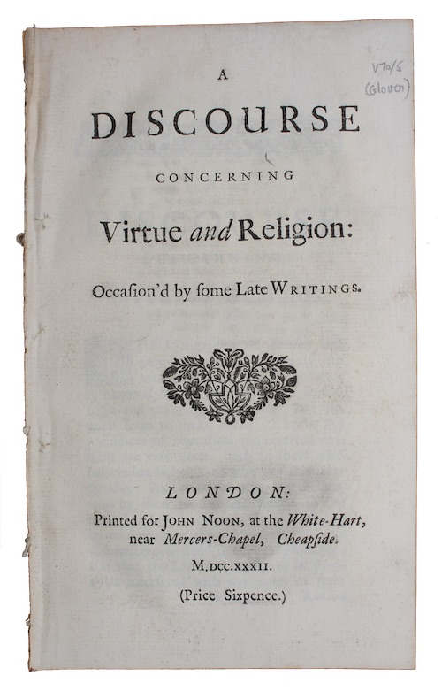 "Photo of ""A discourse concerning Virtue and ..."""