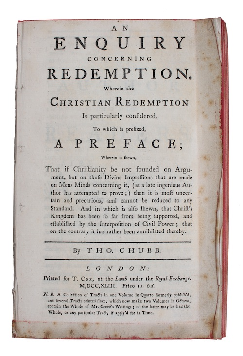 "Photo of ""An enquiry concerning redemption. Wherein ..."""
