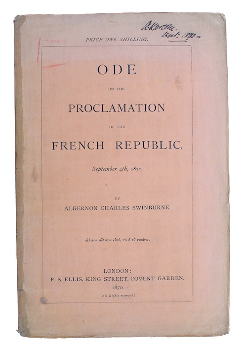 "Photo of ""Ode on the proclamation of ..."""