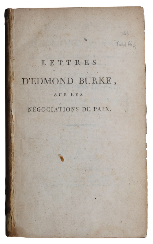 "Photo of ""Lettres d'edmond burke, A un ..."""
