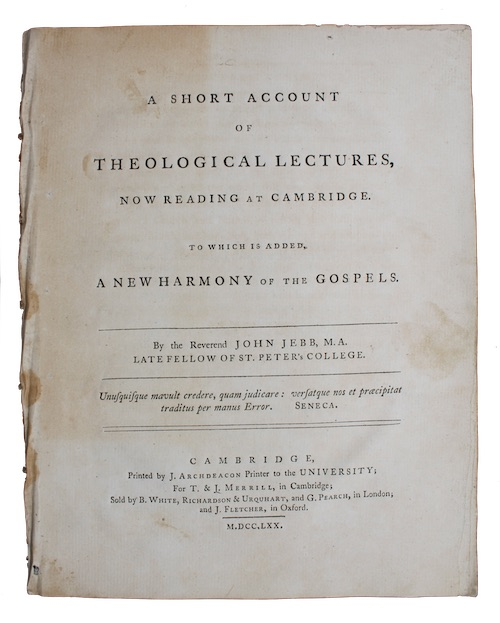 """Photo of """"A short account of theological ..."""""""