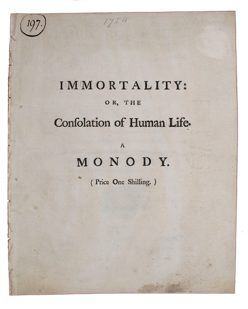 "Photo of ""Immortality: or, the consolation of ..."""