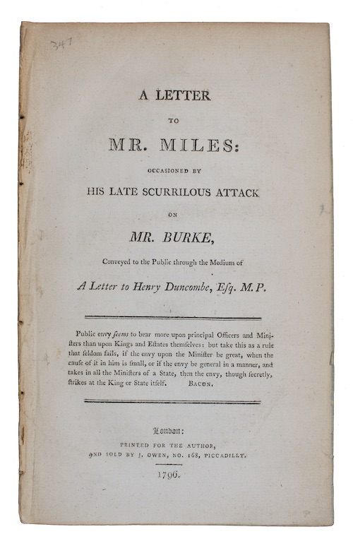 "Photo of ""A letter to mr. miles: ..."""