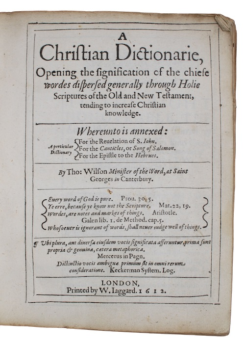 "Photo of ""A Christian Dictionarie, Opening the ..."""