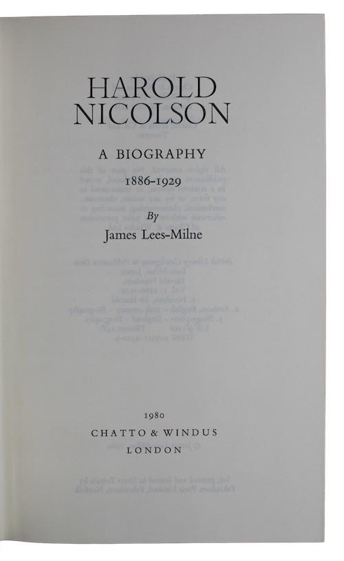 "Photo of ""Harold nicolson: a biography"""
