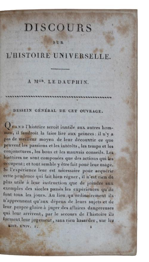 """Photo of """"Discours sur l'histoire universelle"""""""