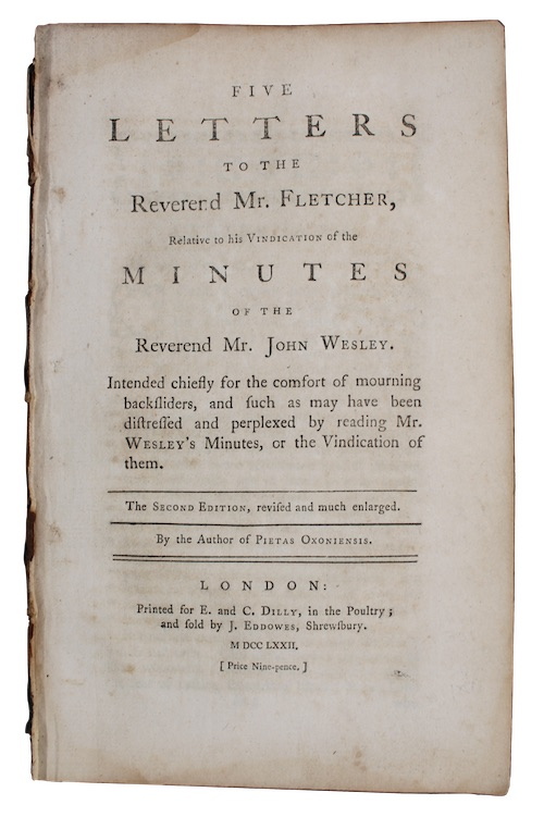 "Photo of ""Five letters to the Reverend ..."""
