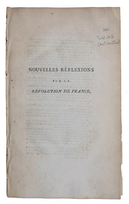 """Photo of """"Nouvelles reflexions sur la revolution ..."""""""